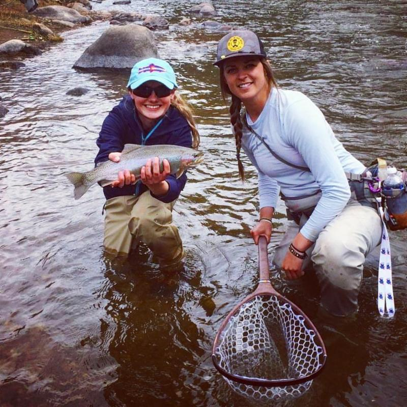 43460-Vail Valley Fishing Reports-Happy women after catching fish
