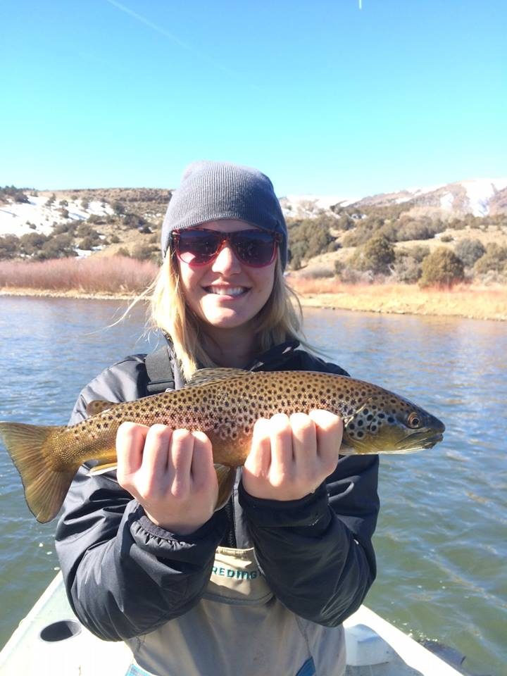 Even girls Love Fly Fishing and catching brown trout!