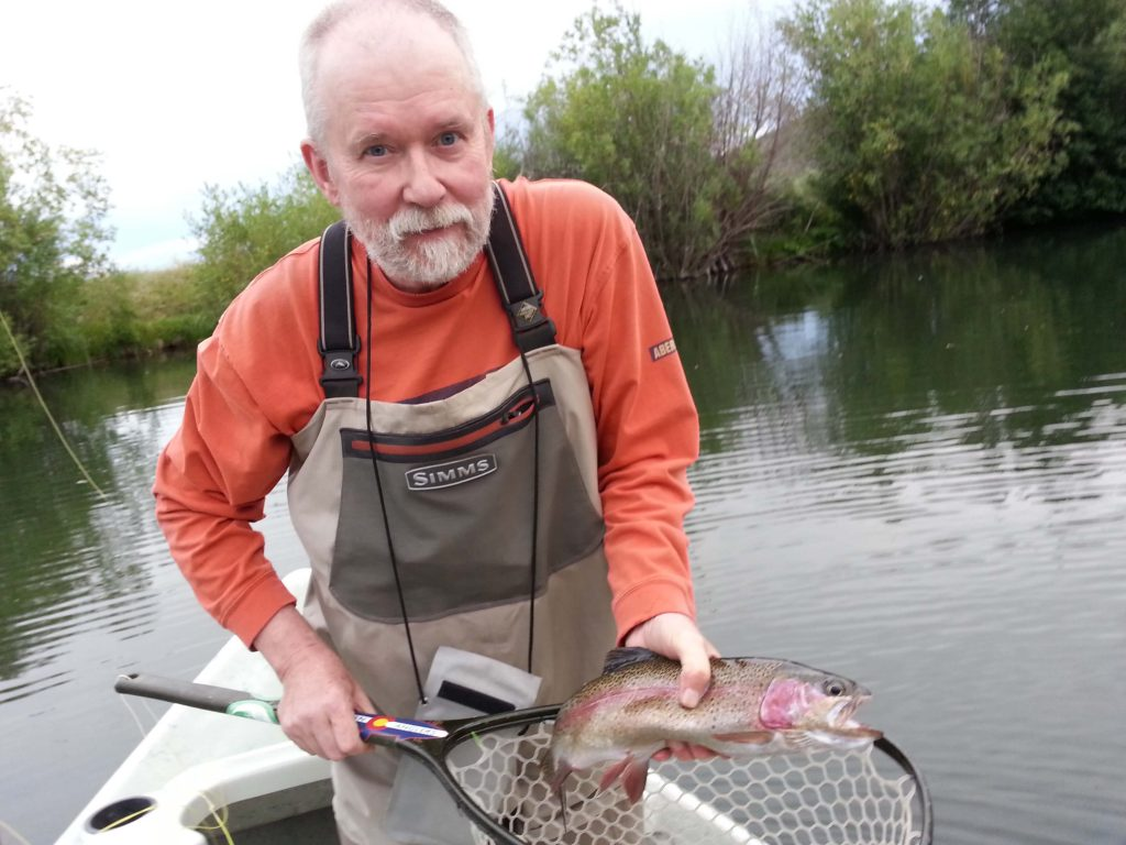 Private waters James budniakiewicz with nice trout sweewatre near gypsum, Colorado