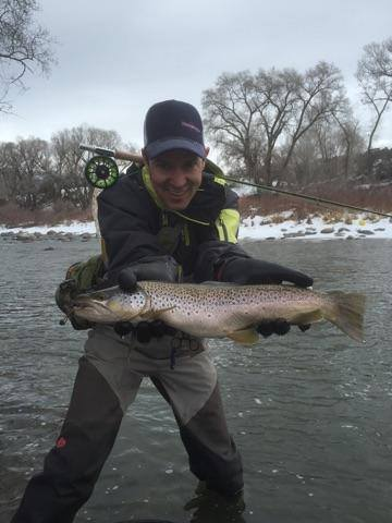 Winter fly fishing near Minturn Colorado on the Eagle River