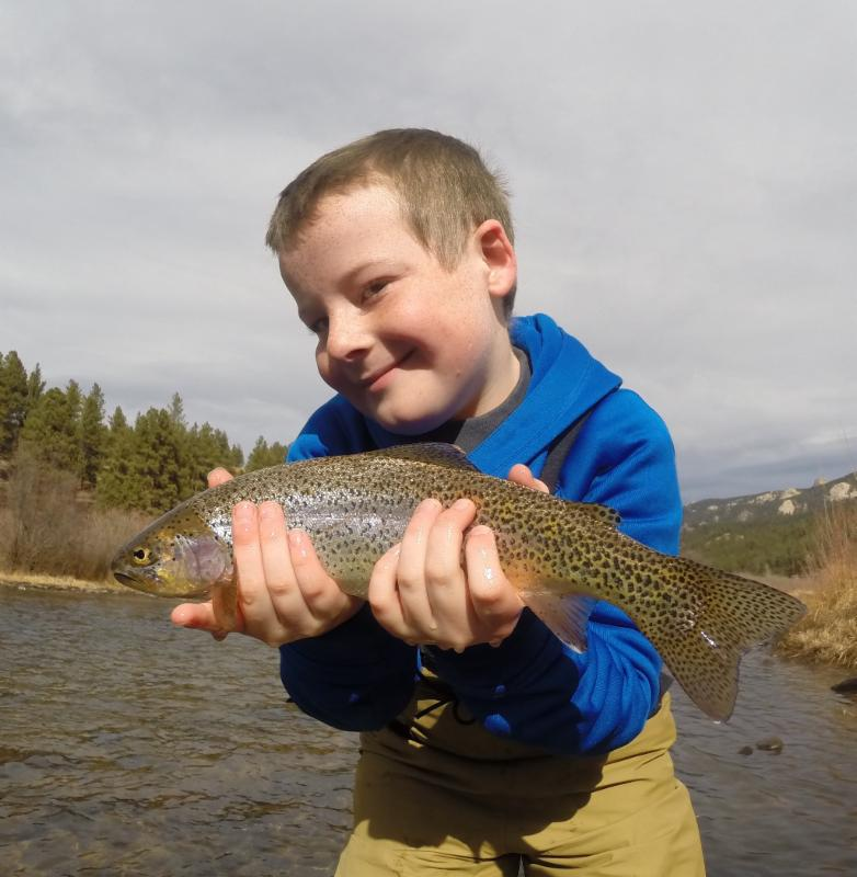 Yunguns Love Fly Fishing and catching trout!