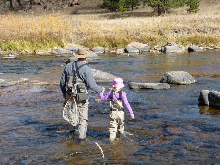Fishing the South Platte River with my daughter Roeyn