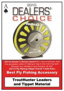 DealerChoiceAward-2010 trout hunter tippet award