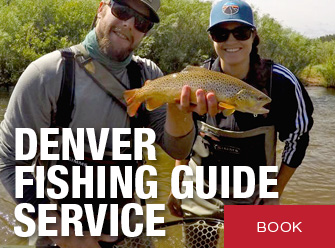 denver fly fishing guide service - female with male guide holding trout