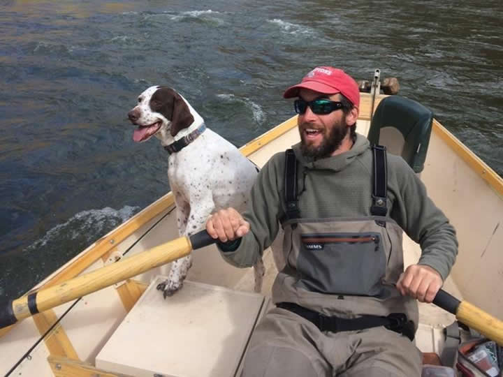 rowing class in Vai with Minturn Anglers + a dog