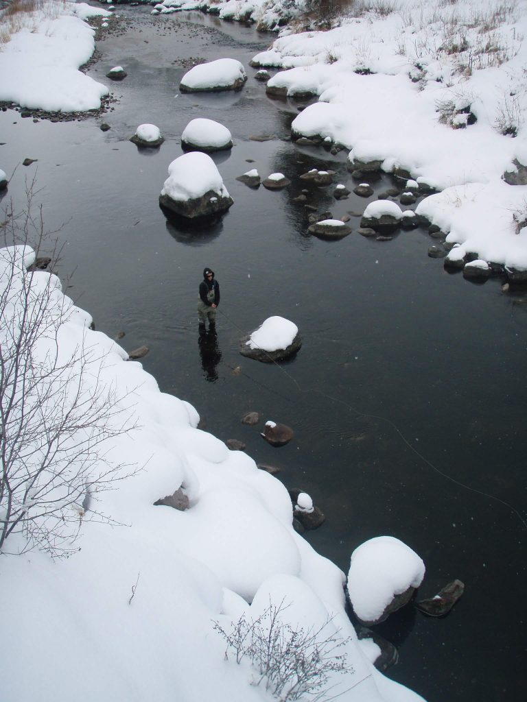 Minturn Anglers fly fish in colorado winter waters
