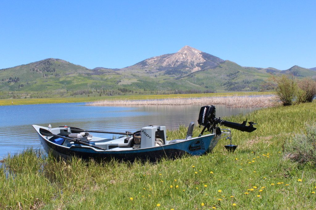 fly fishing on steamboat lake
