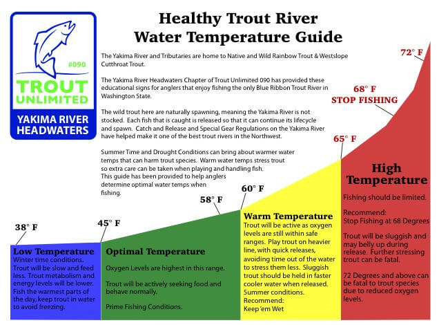 healthy trout river water temperature guide