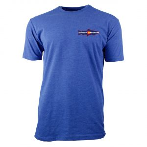 Cool Blue Tee Shirt with Minturn Anglers Logo