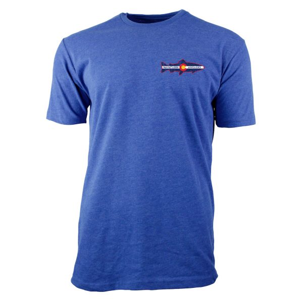 Cool Blue Tee Shirt with Minturn Anglers Logo