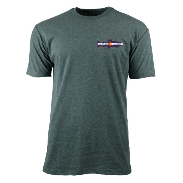 Forest Green Tee Shirt with Minturn Anglers Logo
