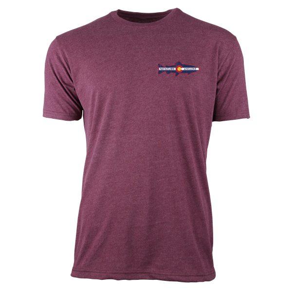 Maroon Tee Shirt with Minturn Anglers Logo